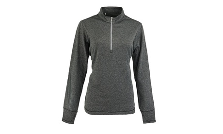 adidas Women's Brushed Terry Heather 1/4 Zip Jacket a0c8f17f-fad5-4d21-ae7f-2d9732dc3c02