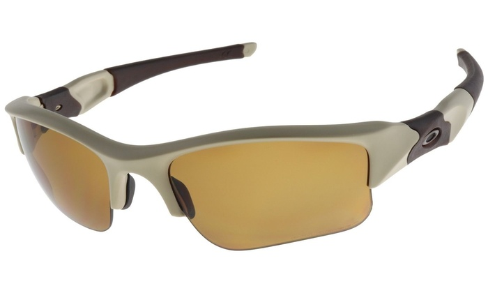 d245725225a42 Oakley SI Flak Jacket XLJ 53-100 Desert Frame   Bronze Polarized Lens