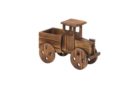 Rustic Wooden Old World Style Delivery Truck Garden Planter 10d9c754-1934-4ed9-96e2-126cf4a239e4