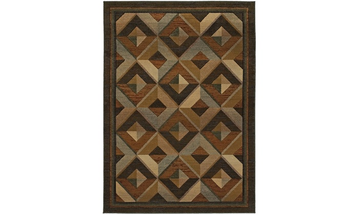 Monarch Connor Brown Beige Geometric Area Rug Groupon