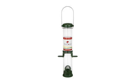Droll Yankees Bird Lovers Sunflower Seed Tube Feeder 15 in. Green (Goods For The Home Patio & Garden Bird Feeders & Food) photo