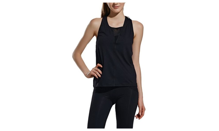 Women's Pullover Casual Sleeveless Solid Loose Fit Tanks