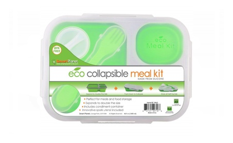 Smart Planet Collapsible Eco Meal Kit, Large, Green photo