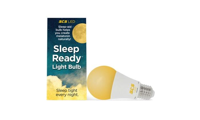 Sleep Ready Light Bulb - No blue light Amber LED 7w | Groupon