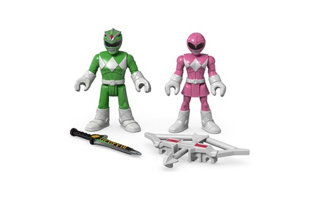 Fisher-Price Imaginext Power Rangers Green Ranger & Pink Ranger Figure 12b13478-9175-48fe-86ab-4c1e0a1bc106