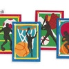 """Sand Art Boards 5""""x7"""" - Sports  (pack of 12)"""