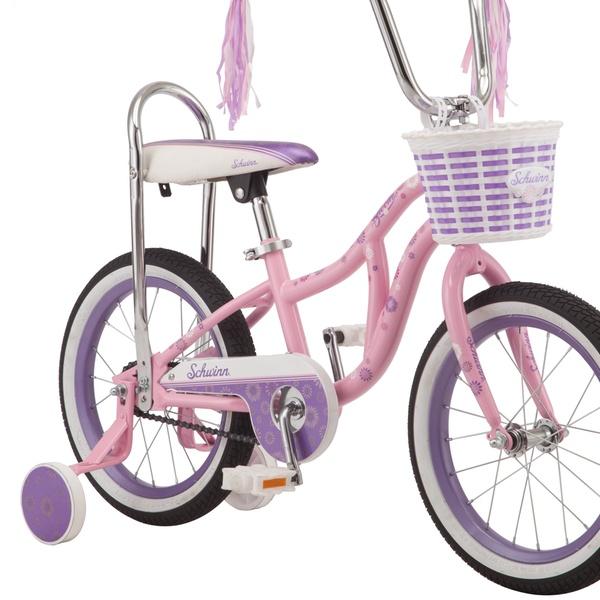 Bloom kids bike, 16-inch wheel, training wheels, girls, pink