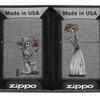 Zippo Skeleton Flowers Iron Stone Gift Set Pocket Lighters 28987