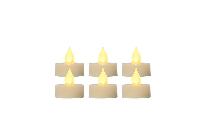 6 Piece Candle Choice Flameless LED Battery Votive Candles Realistic Flickering