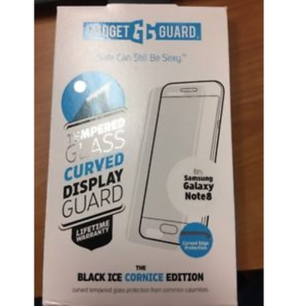 GGBIC2C208SS03A Gadget Guard Black Ice Cornice 2.0 Full Adhesive Tempered Glass Screen Guard for Samsung Galaxy 8 Note