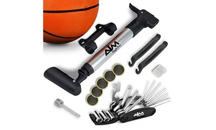 Portable Mini Bicycle Cycling Bike Air Pump Sports Ball Basketball Tyre Soccer