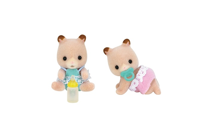 Twins Auto Mall >> International Playthings - Calico Critters Fluffy Hamster Twins | Groupon
