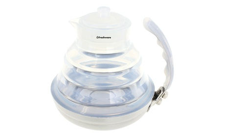 Freshware Collapsible Silicone Stainless Steel Water Kettle/Tea Pot 6d728a2b-47d5-447d-baaf-b449420fe216