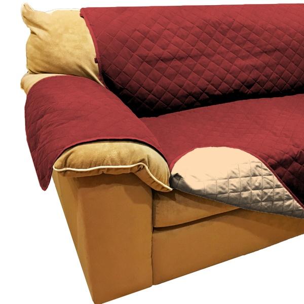 Reversible Microfiber Sofa Cover Throw Pet Dog Kid Furniture Protector