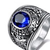 Stainless Steel Crystal Air Force Ring for Men