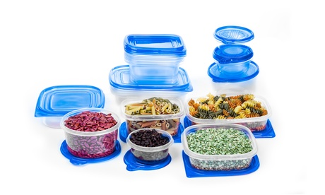 34 PC Plastic Food Containers Set