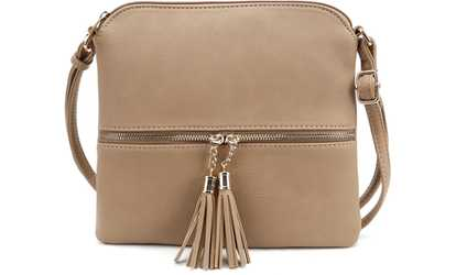 e226bc7b8431 Shop Groupon MKII Sadie Tassel Crossbody Purse