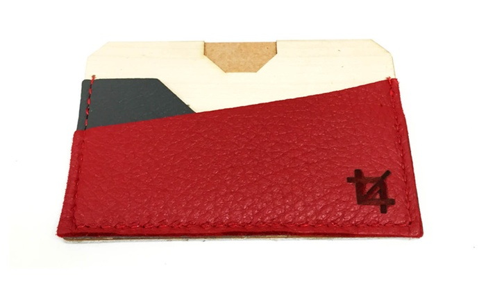Crop Design Pile card holder in Gray/Red/White