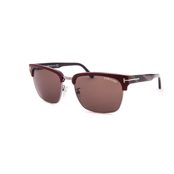 370c97504d3 Tom Ford Men s River Clubmaster Sunglasses Polarised Ft0367 01d 57 ...