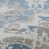 LR Home Infinity Medallion Distress White / Blue Rectangle Indoor Area Rug
