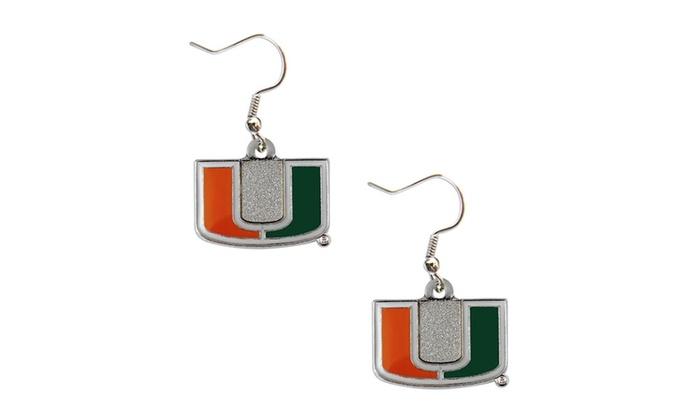 Miami Hurricanes Dangle Logo E...