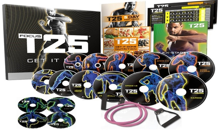 Focus T25 Get It Done Workout 14DVD Set BRAND NEW IN BOX!