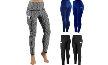 Women Fashion Soild Color Sport Yoga Leggings Capri Workout Gym Fitness Pants