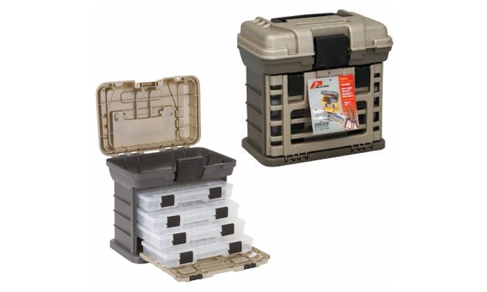 Tools Bag 4 Tray Fishing Tool Organizer Storage Plano Tackle Box