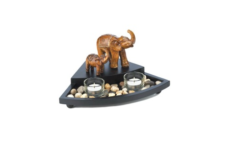 Mother Elephant and Baby Candleholder Table Centerpiece Set 019348d3-9859-4046-9893-7a7915b2f4d2