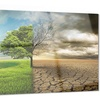 Global Warming Landscape Contemporary Metal Wall Art 28x12