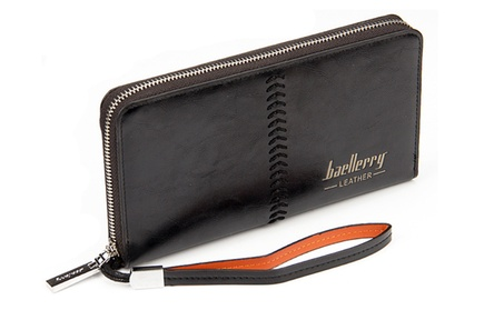 Stylish Mens Multi-functional Wrist Wallet with Stiching 36e9d1b3-31d2-43ff-8740-7d3f7f344f9e