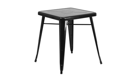 "Flash Furniture Home Livingroom 24"" Square Metal Indoor-Outdoor Table ae0cf1ed-72b9-463a-bf53-8f23c93144c3"