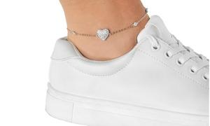 Swarovski Elements Crystal Station Ankle Bracelets By Elements of Love