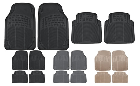 Rubber Car Floor Mats All Season Set of 4 013b9aa6-9897-4ae1-8531-b653a7bbbe21