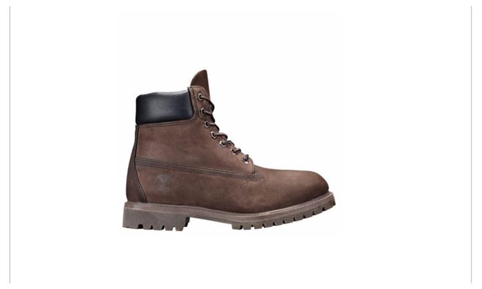 125c8a024db Timberland Men's 6-Inch Premium Waterproof Boots Dark Brown Nubuck ...