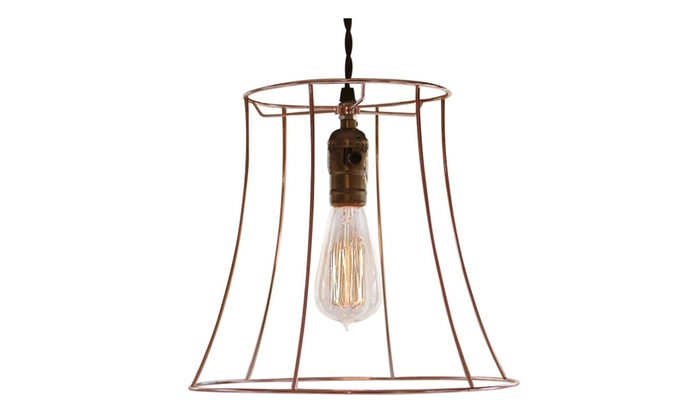 Copper Hanging Light with Dimmer Switch