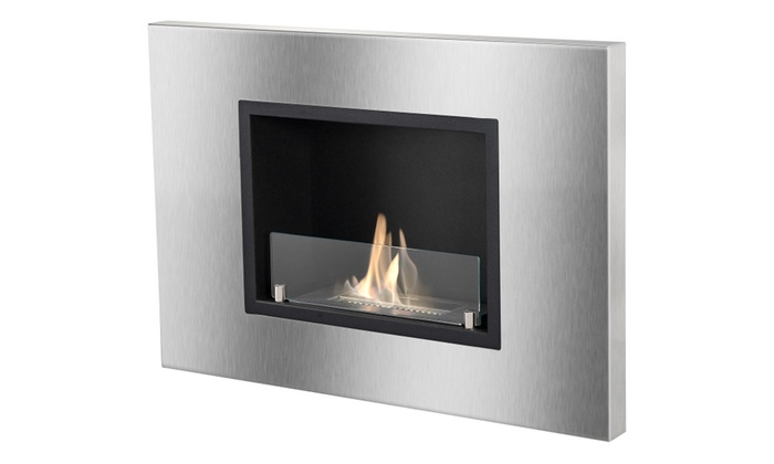 Quadra - Recessed Ventless Ethanol Fireplace By Ignis