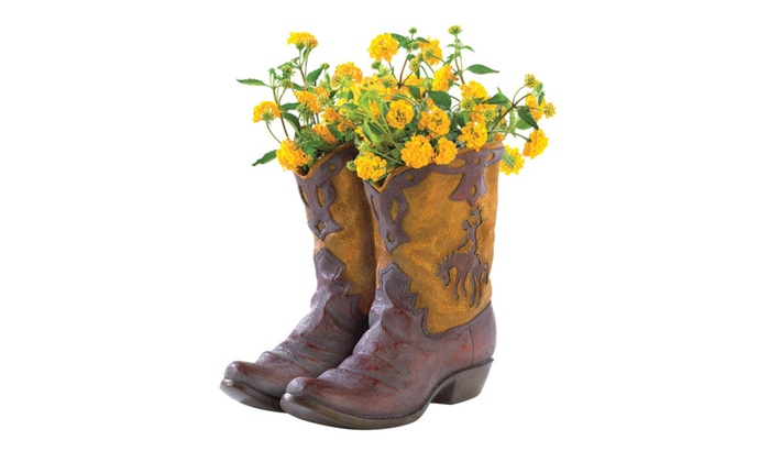 Koehler Home Decor Cowboy Boot Planter Grouponrhgroupon: Cowboy Boot Home Decor At Home Improvement Advice