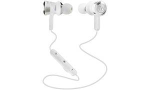 Monster Clarity HD In-Ear Bluetooth Headphones - White/Chrome