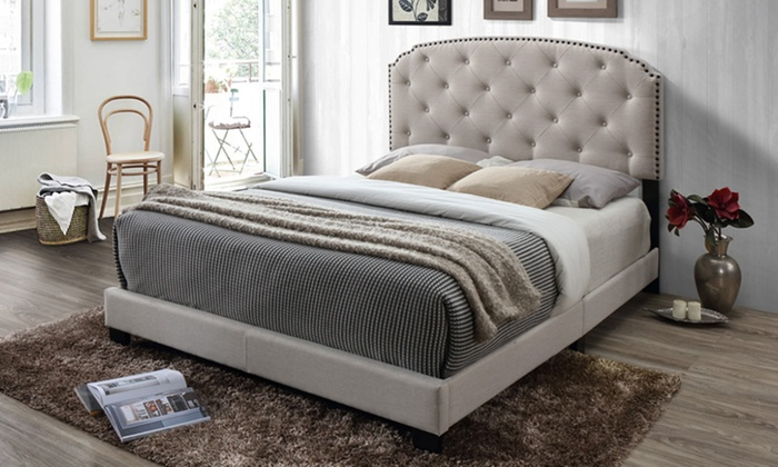 tufted upholstered beds. Lexi Contemporary Button-Tufted Upholstered Bed Tufted Upholstered Beds