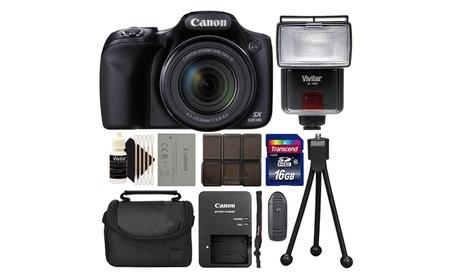 Canon SX530 HS 50X Zoom Digital Camera Black Choose A Bundle