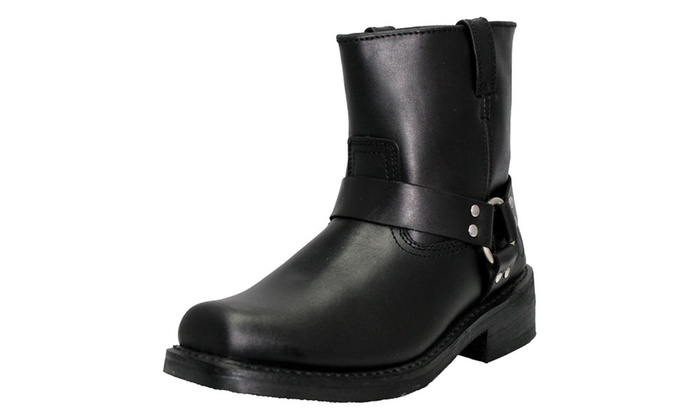 Men's Full Grain Leather – Motorcycle Harness Boots