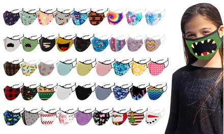 3-Pack: Kids Dual-Layer Reusable Face Masks With Adjustable Earloops Was: $11.99 Now: $4.99.