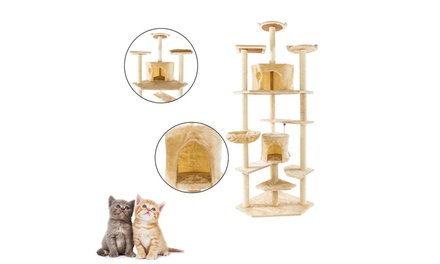"""80"""" Pet Furniture Kitty Activity Tower Condo Cat Tree w/Scratching Pad"""