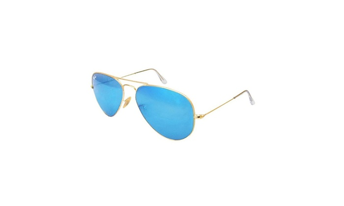 Ray Ban Aviator Rb3025 112/17 Gold Frame/blue Mirror Lenses 58mm