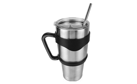 30 oz Tumbler Cup Mug Stainless Steel with Handle Lid Straw fcb5172f-497b-4036-ae6d-4914f384ee81