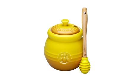 Le Creuset Stoneware 15-Ounce Honey Pot, Dijon 14dd4586-175c-4add-bcc0-b6e24f374f45