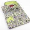 Elie Milano Italy Green Pattern Men's Shirt Ebsh153M
