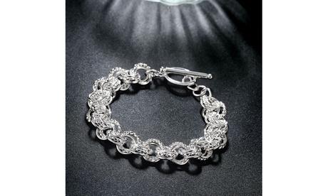 Silver Intertwined Mesh Knot Toggle Clasp Bracelet 69f4ce30-4ff0-415f-aca8-719ea8a022e5