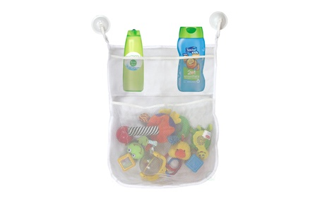 4-Section Bath Toy Organizer With 2 Hook Suction Cups c8f1ddb0-0415-443f-acf2-7d5668ab3228